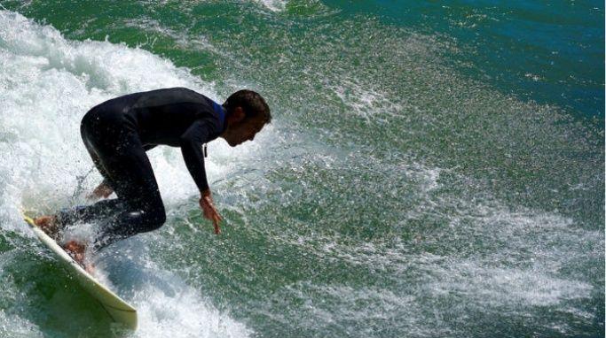 Man on a surf board