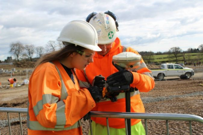 Civil engineer Tara on site at the Morpeth Northern Bypass project