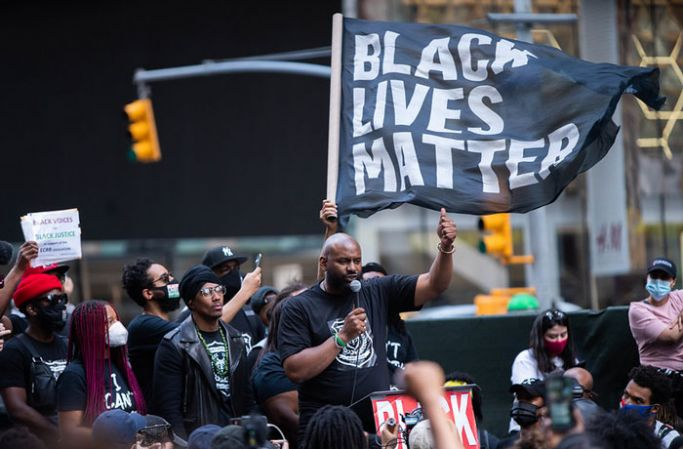 Black Lives Matter rally in New York