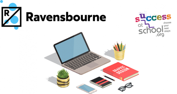 Ravensbourne and Success at School with graphic design image