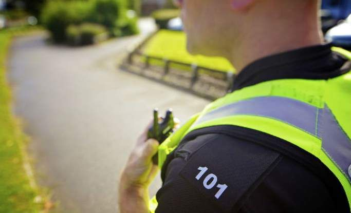police officer on patrol