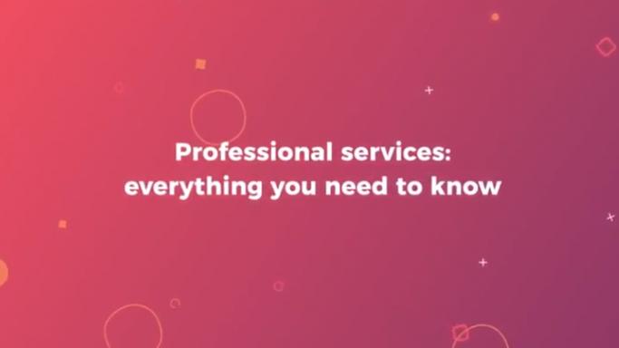 Professional services video screenshot