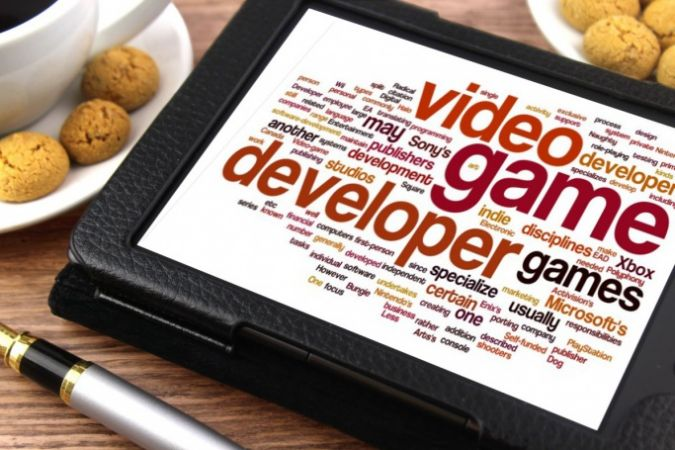 Game jobs on tablet screen