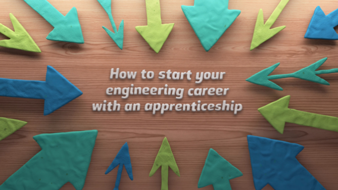 Screenshot from engineering apprenticeships video