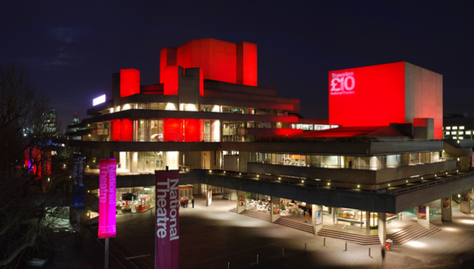 National Theatre at night-time