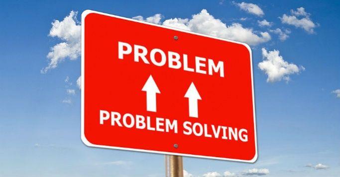 Signpost representing problem solving skills