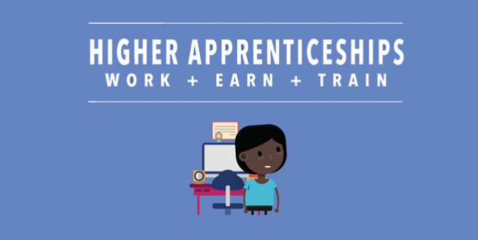 Higher apprenticeships infographic