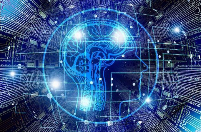 A futuristic image of a brain