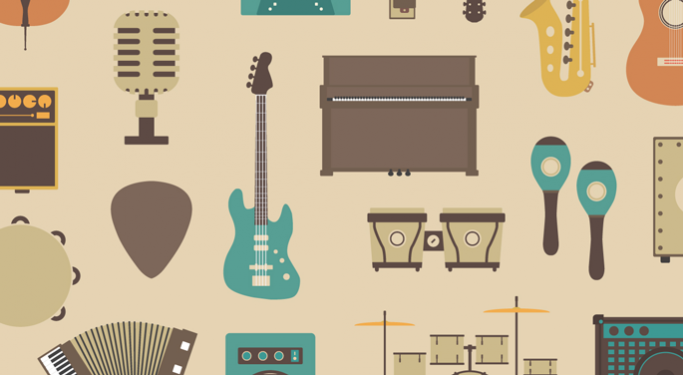 Musical instruments montage