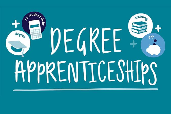 Degree apprenticeship infographic