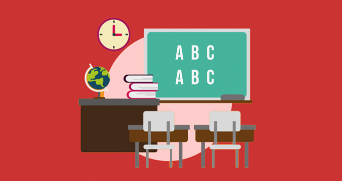 Graphic of a classroom