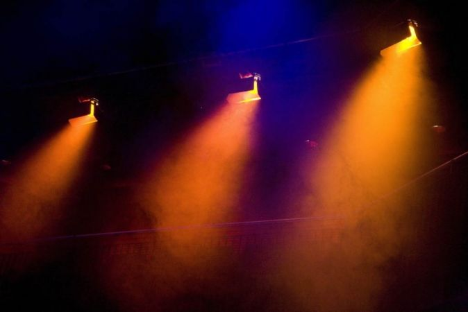 Lighting in a dark theatre