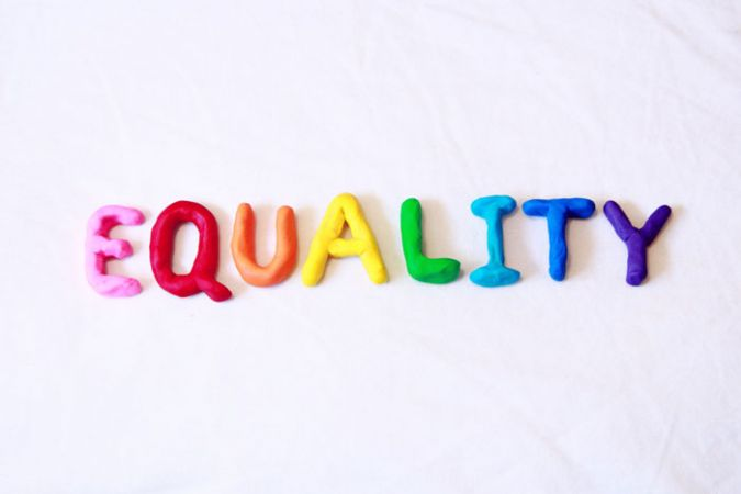 Equality spelt out with play dough