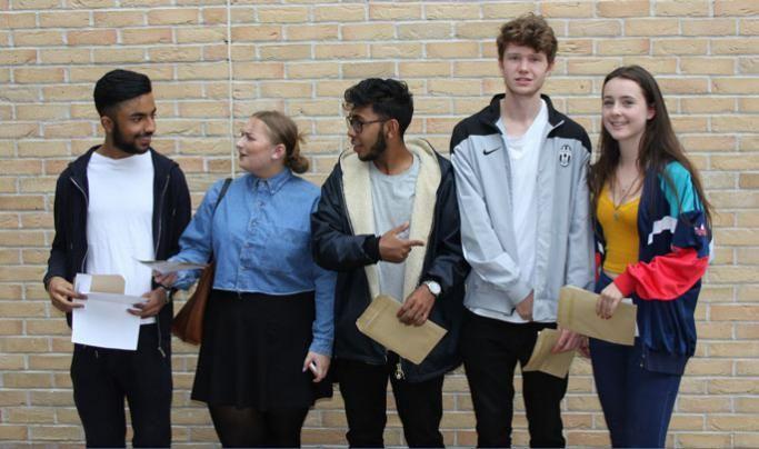GCSE results day at Thomas Tallis School