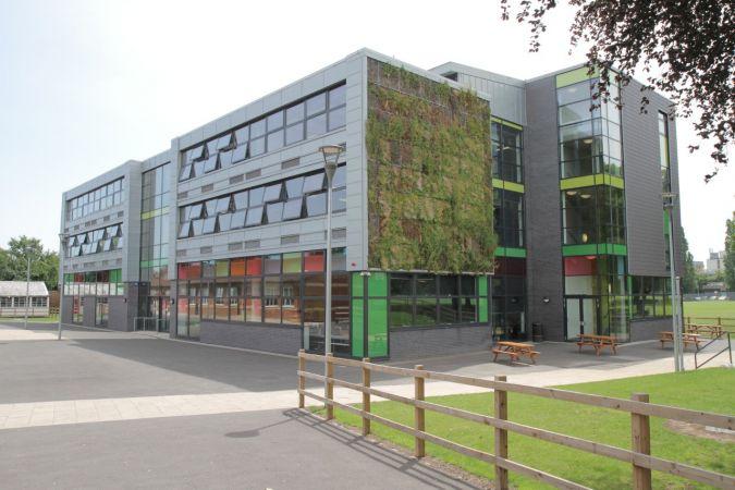Exterior of a modern school building