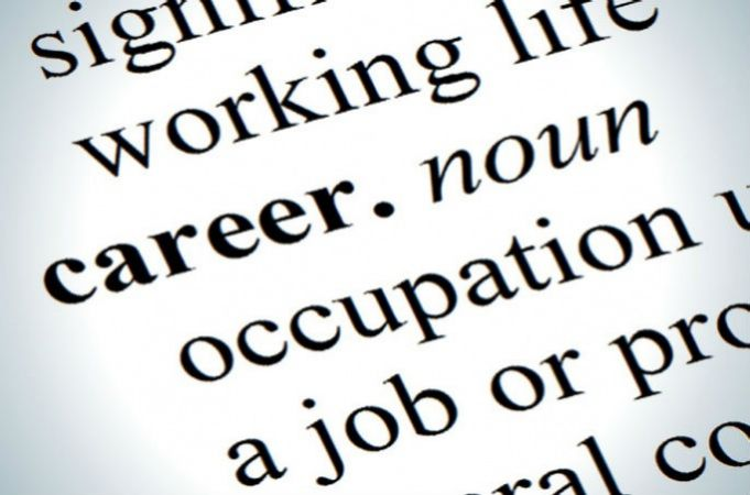 A dictionary entry defining the word career to show the difference between a job and a career