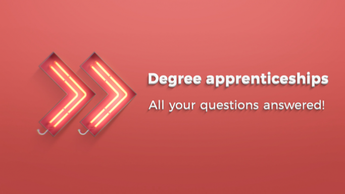 Degree apprenticeships graphic