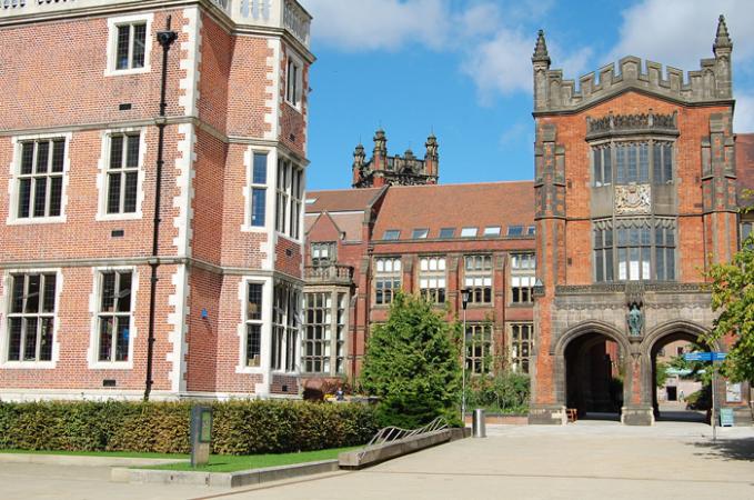 Newcastle University campus empty