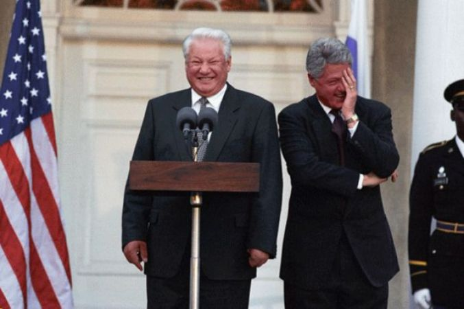 Boris Yeltsin and Bill Clinton - interesting work colleagues