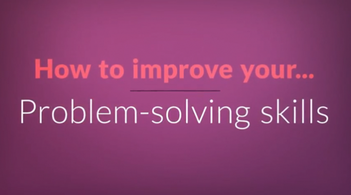 Problem solving skills video screenshot