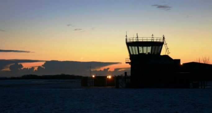 Air traffic control tower at RAF Barkston Heath