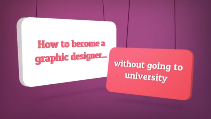 Graphic design apprenticeships video screenshot