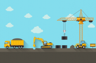 Graphic representing construction industry
