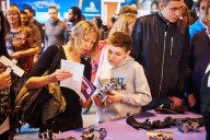 A mother and son at the Skills Show, Birmingham 2015